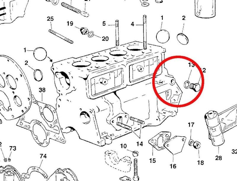 vis purge refroidissment sur bloc moteur Mini_w10