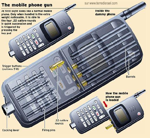 Un pistolet dans un téléphone portable. Pistol10