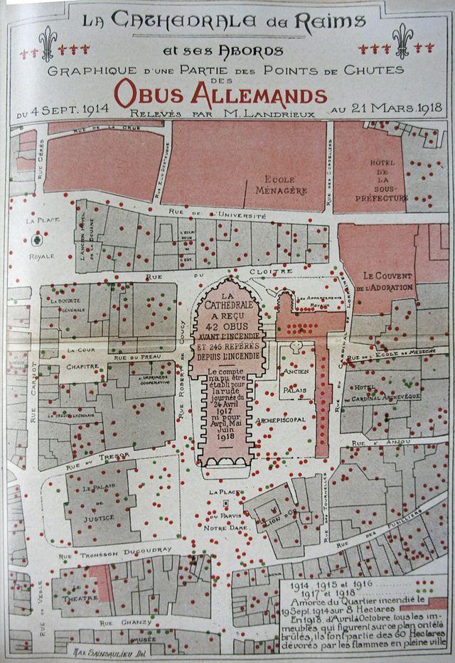 La cathédrale de Reims en 1914. Plan_d10