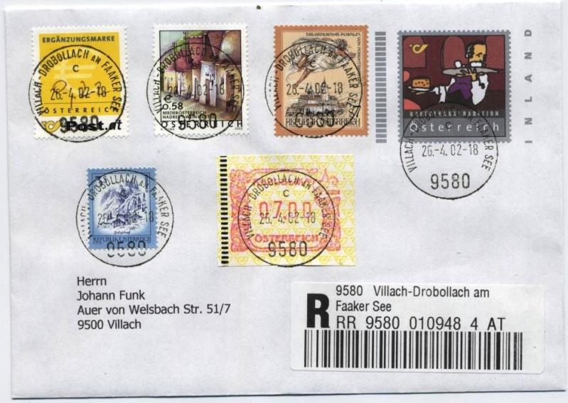 Bonusbriefe der österreichischen Post Bonusb12