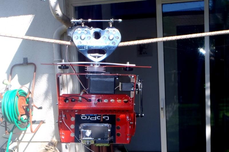 Tyrolienne sur corde 13 mm auto-freinée par radiocommande pour GoPro Gopro_16