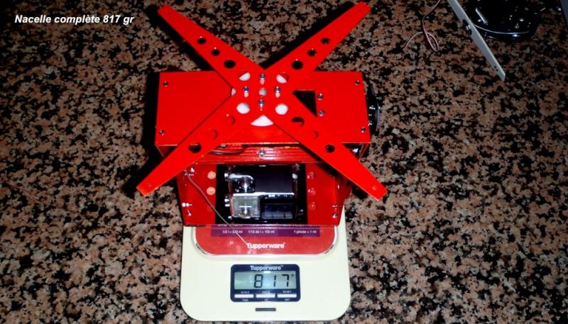 Tyrolienne sur corde 13 mm auto-freinée par radiocommande pour GoPro Nacell10