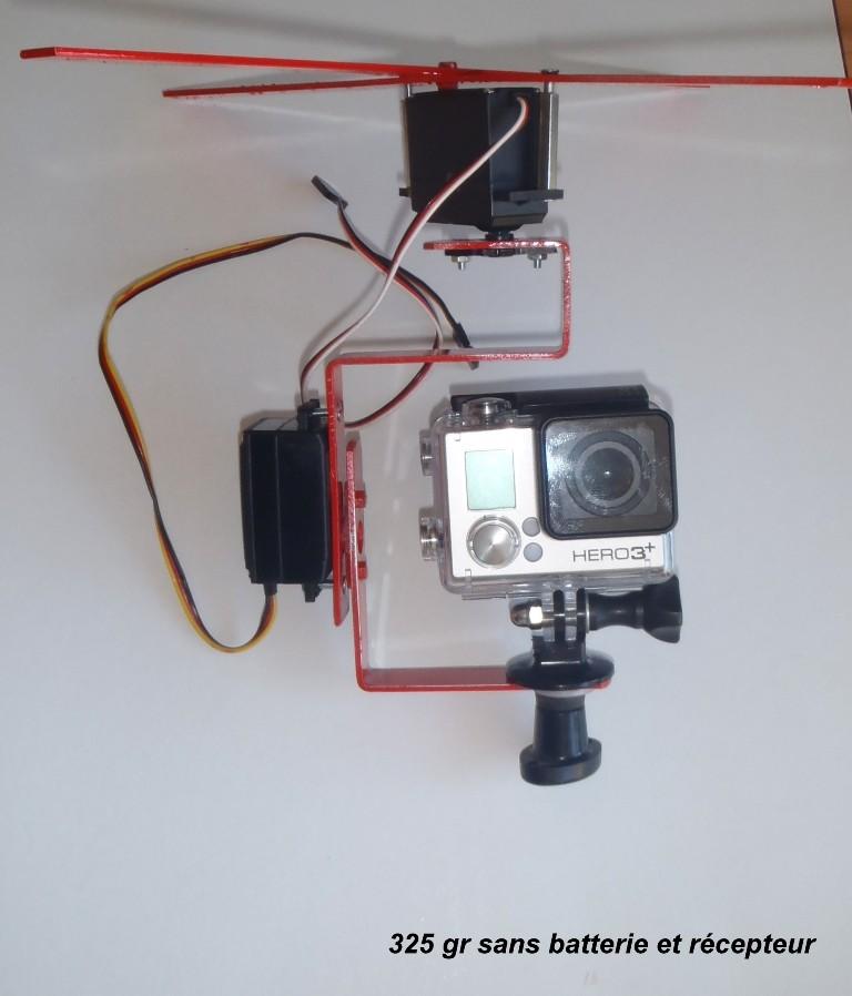 Nacelle sous cerf-volant pour une GoPro Heros3+ poids 232 gr P9023510