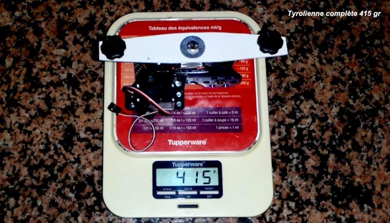 Tyrolienne sur corde 13 mm auto-freinée par radiocommande pour GoPro Tyroli10