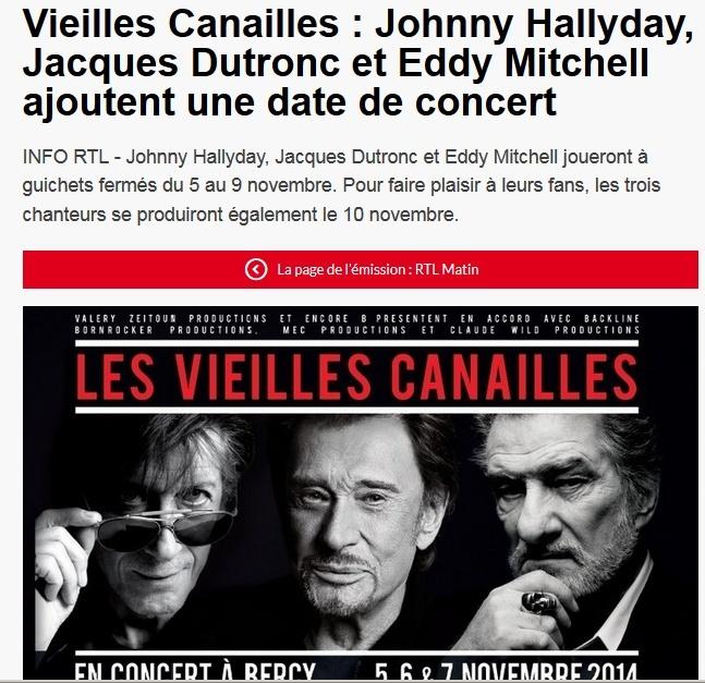 Johnny Hallyday, Jacques Dutronc & Eddy Mitchell à Paris-Bercy  Captu188