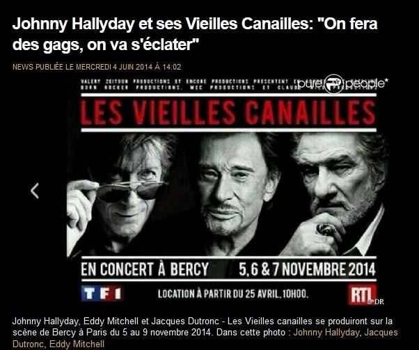 Johnny Hallyday, Jacques Dutronc & Eddy Mitchell à Paris-Bercy  Captur30