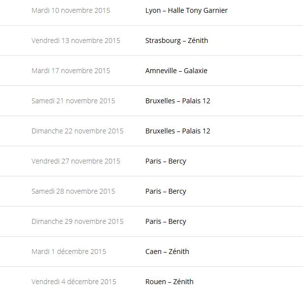 """Tournée 2015/2016 de johnny """"RESTER VIVANT """" Dates de tournée et Part 1 les festivals Captur73"""