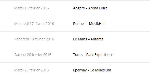 """Tournée 2015/2016 de johnny """"RESTER VIVANT """" Dates de tournée et Part 1 les festivals Captur75"""