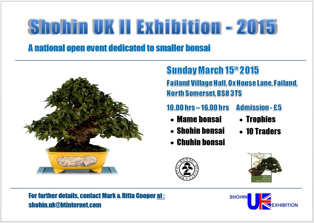 Shohin UK II  exhibition - Sunday, 15 March 2015 Flyer_10