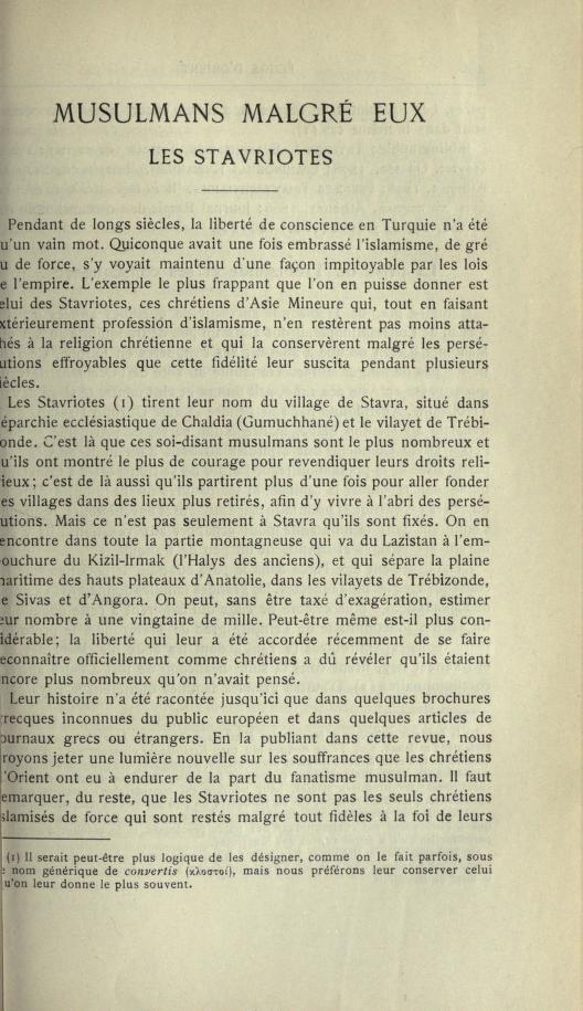 MULSUMANS MALGRÉ EUX - LES STAVRIOTES. Echosd10