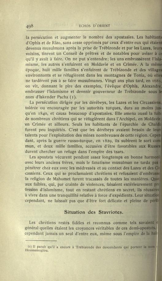MULSUMANS MALGRÉ EUX - LES STAVRIOTES. Echosd13