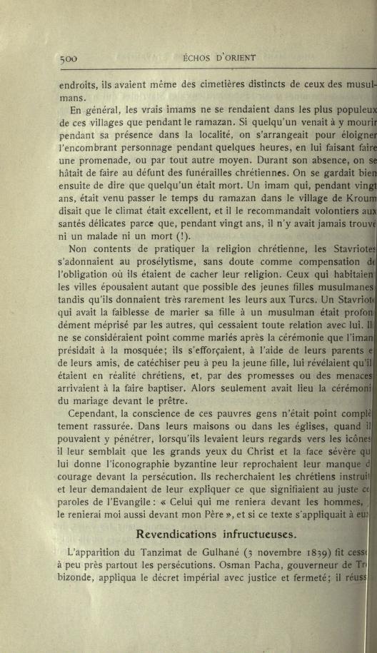 MULSUMANS MALGRÉ EUX - LES STAVRIOTES. Echosd15