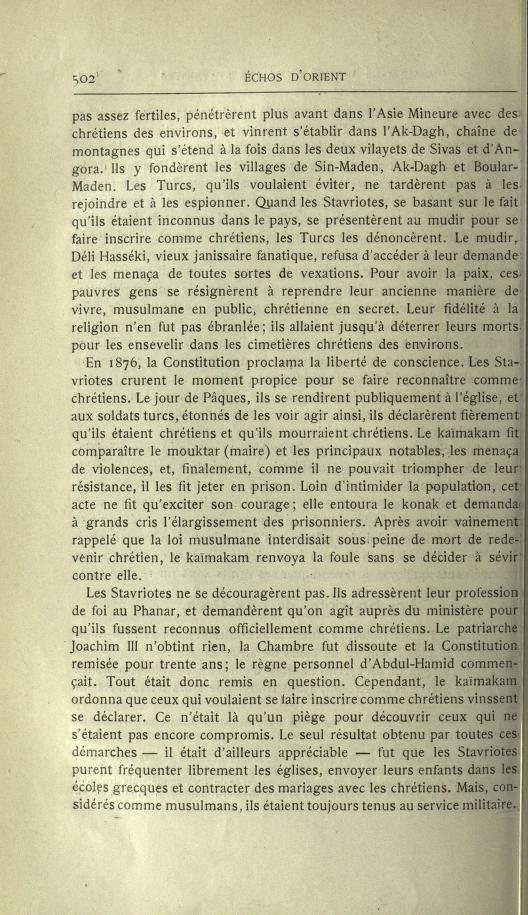 MULSUMANS MALGRÉ EUX - LES STAVRIOTES. Echosd17