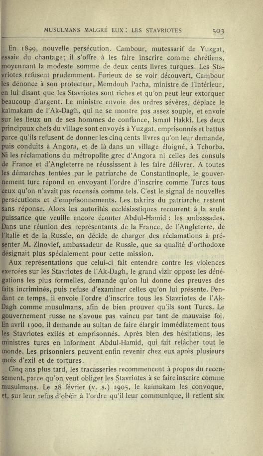 MULSUMANS MALGRÉ EUX - LES STAVRIOTES. Echosd18
