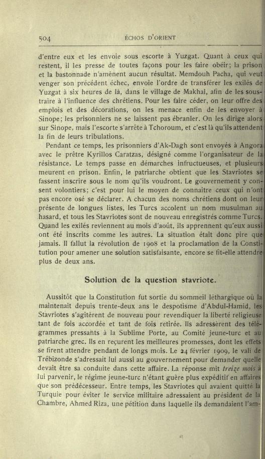 MULSUMANS MALGRÉ EUX - LES STAVRIOTES. Echosd19