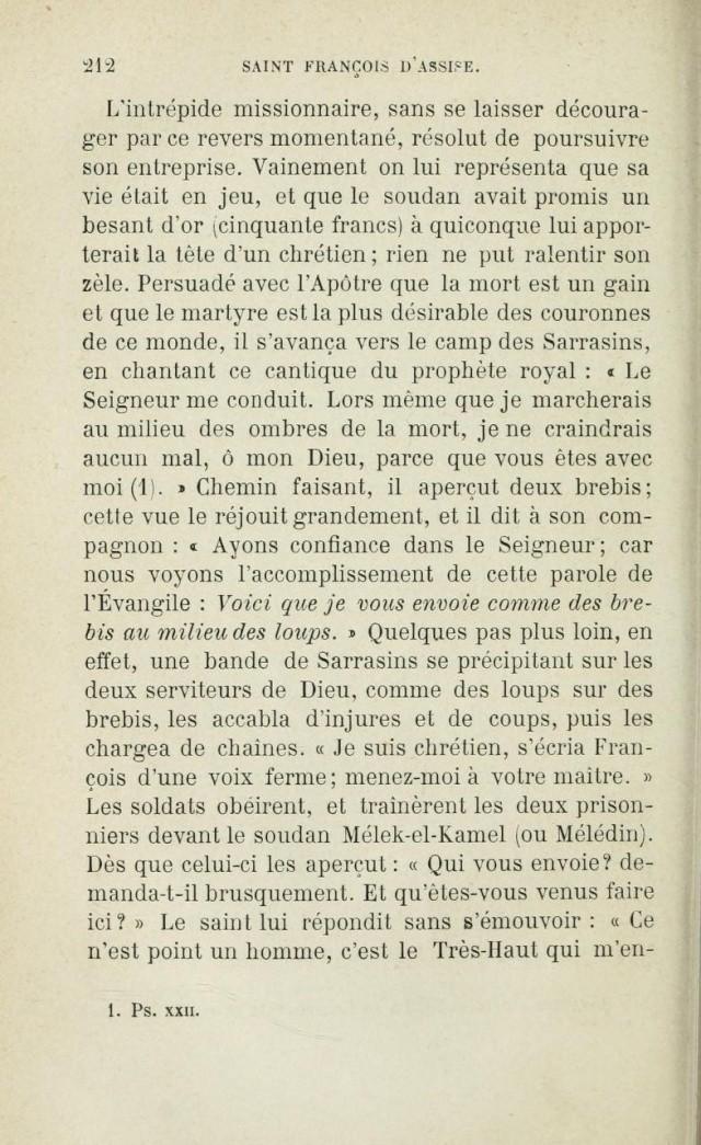 Saint FRANÇOIS D'ASSISE devant les mahométans pour les convertir. Saintf10