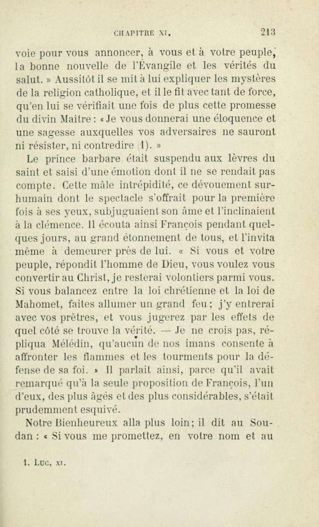 Saint FRANÇOIS D'ASSISE devant les mahométans pour les convertir. Saintf11
