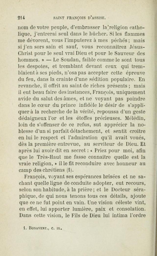 Saint FRANÇOIS D'ASSISE devant les mahométans pour les convertir. Saintf12