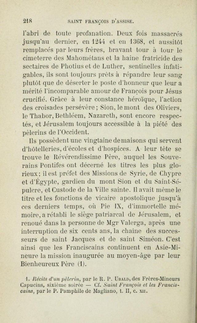 Saint FRANÇOIS D'ASSISE devant les mahométans pour les convertir. Saintf16