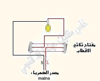 طريقة ربط المصباح علي مفتاحين  Uouooo10