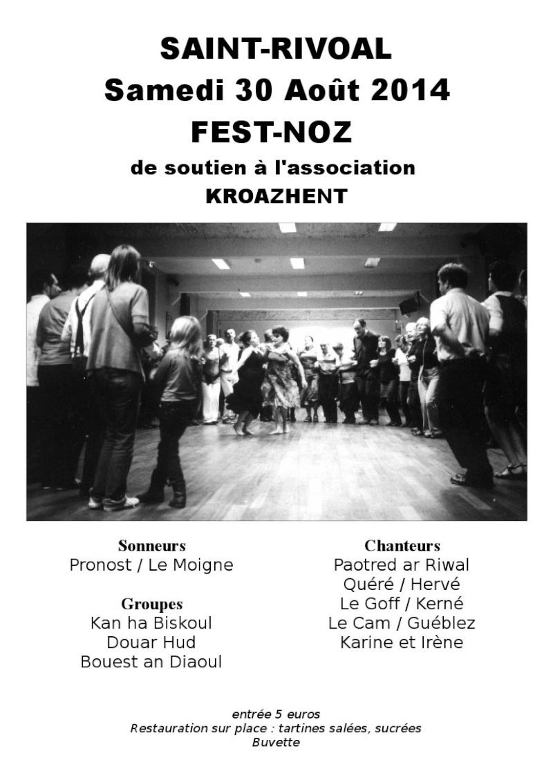Fest Noz à Saint Rivoal le 30 août 2014 Affich19