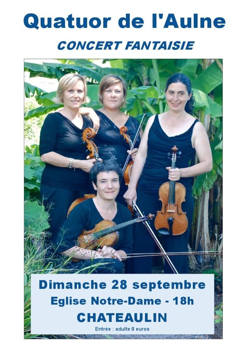 Quatuor de l'Aulne - Concert Fantaisie le 28 septembre Affich23