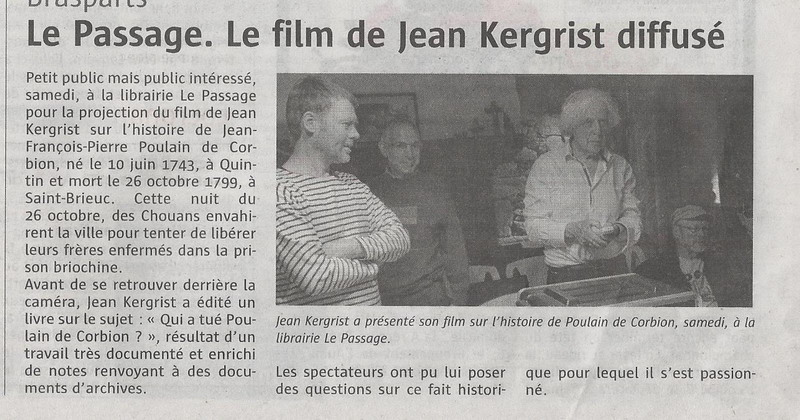 """La librairie """"Le Passage"""" à Brasparts /  samedi 10 décembre 2016 Jean_k10"""