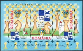 Schach - das königliche Spiel / Briefmarken 01287