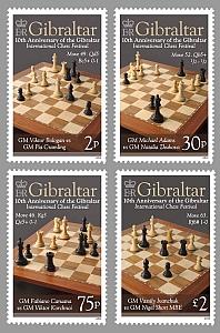 Schach - das königliche Spiel / Briefmarken 01289