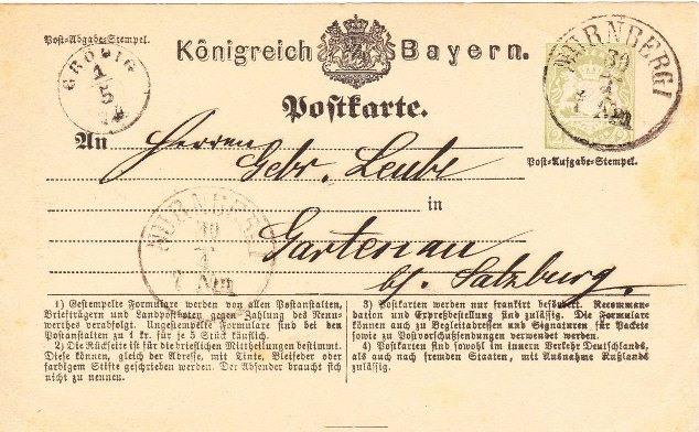 Postverhältnisse Bayern - Österreich - Seite 4 01323