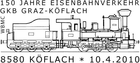 Das Eisenbahnthema im Stempel 01331