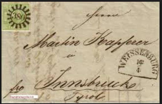literatur - Postverhältnisse Bayern - Österreich 0237