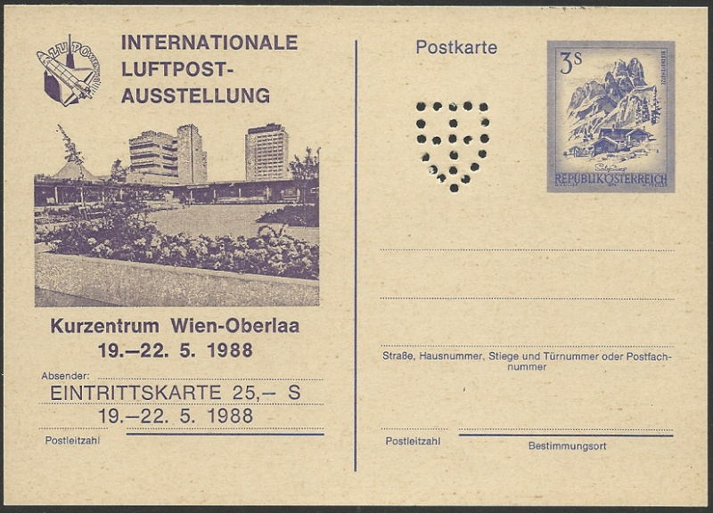 """Wertstempel """"Schönes Österreich"""" - Zudrucke auf Ganzsachen 0300_g10"""