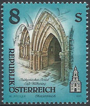 """Freimarkenserie """"Kunstwerke aus Stiften und Klöstern"""" 0800_a10"""