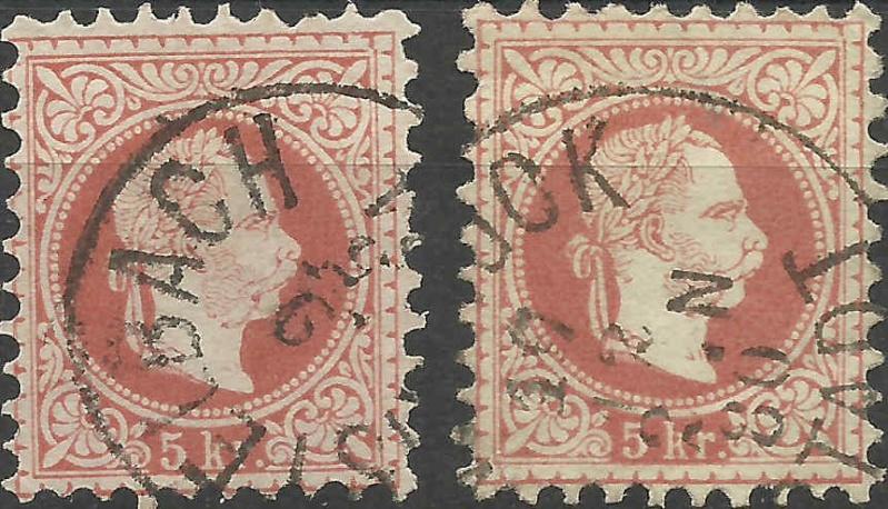 Freimarken-Ausgabe 1867 : Kopfbildnis Kaiser Franz Joseph I - Seite 7 1867_i10