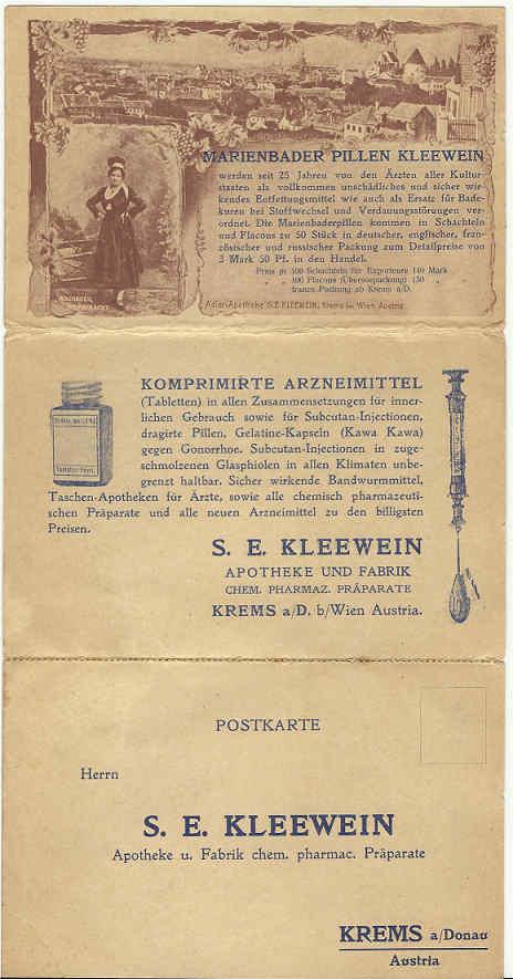Werbeumschläge und -karten aus Österreich 1905_k10