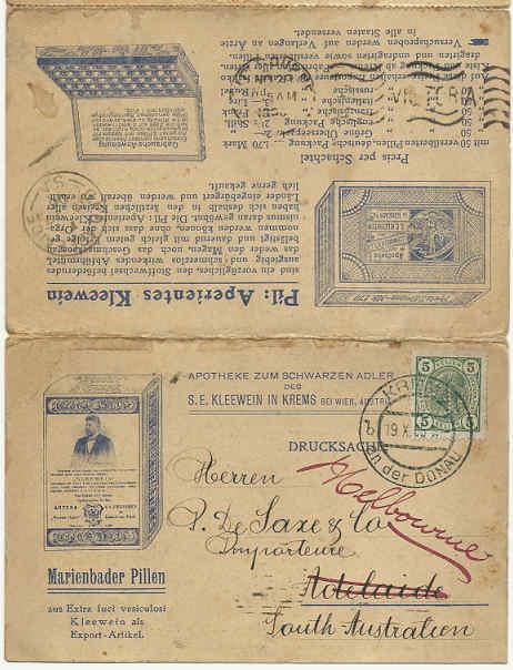 Werbeumschläge und -karten aus Österreich 1905_k11