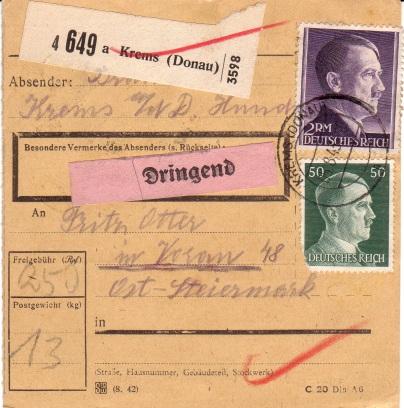 Österreich im III. Reich (Ostmark) Belege - Seite 2 1943dr10