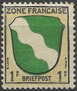 Zone - franz. Zone, Allgemeine Ausgabe/Wappen Besatz10