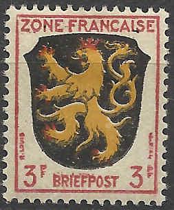 Zone - franz. Zone, Allgemeine Ausgabe/Wappen Besatz11