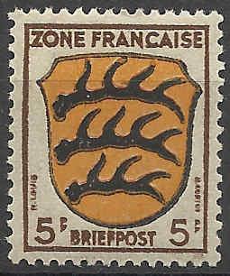 Zone - franz. Zone, Allgemeine Ausgabe/Wappen Besatz12