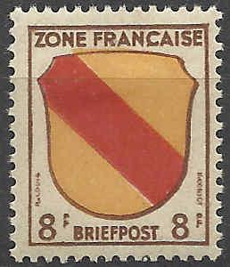 Zone - franz. Zone, Allgemeine Ausgabe/Wappen Besatz13