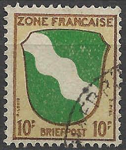Zone - franz. Zone, Allgemeine Ausgabe/Wappen Besatz14