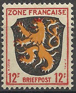 Zone - franz. Zone, Allgemeine Ausgabe/Wappen Besatz15