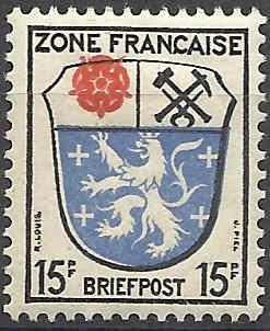 Zone - franz. Zone, Allgemeine Ausgabe/Wappen Besatz16