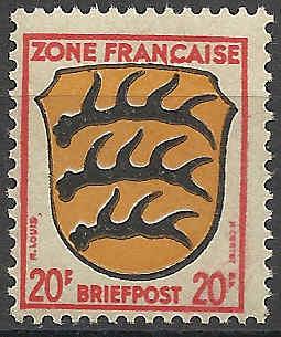 Zone - franz. Zone, Allgemeine Ausgabe/Wappen Besatz17