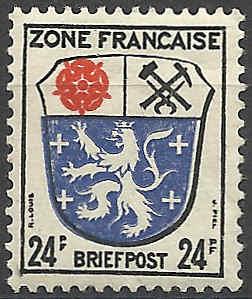Zone - franz. Zone, Allgemeine Ausgabe/Wappen Besatz18