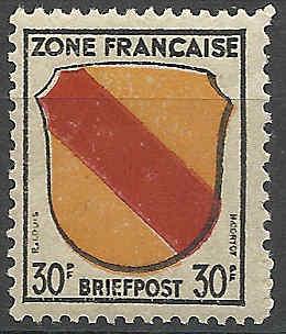 Zone - franz. Zone, Allgemeine Ausgabe/Wappen Besatz19