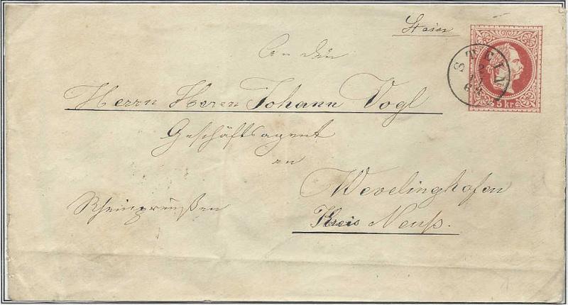 Fingerhutstempel auf Freimarkenausgabe 1867 Gs_bri10