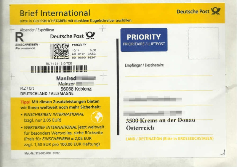 In der Zukunft angelangt - Internetmarke Intern11